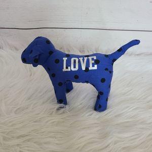 PINK Collectors Dog Blue and Black Poka Dots